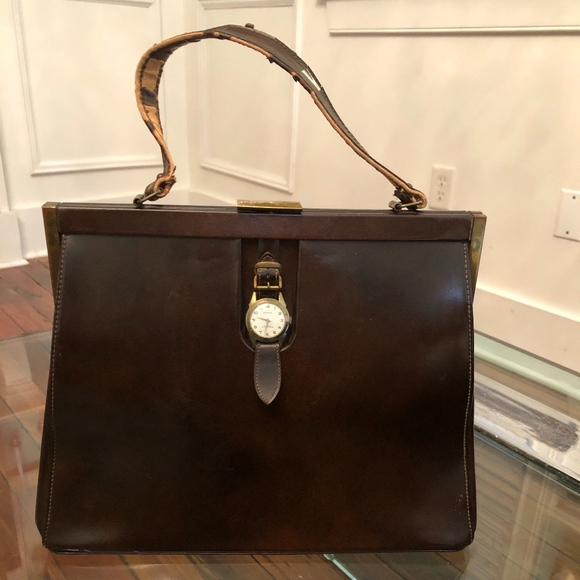 Hanover Handbags - Hanover Watch Genuine Leather Vintage Purse